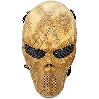 stargoods scheletro Airsoft–Maschera in rete metallica, Paintball BB Gun, e CS Giochi, Golden Skull - Airsoft Ragazzi Gun