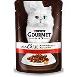 Gourmet a la Carte Katzenfutter Rind an erlesenem Sommergemüse, 24er Pack (24 x 85 g) Beutel