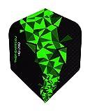 THOR-DARTS 30 Stück (10 Set) extra Strong Darts Flights HD-280 F2 Green Black 150 Micron Flys extra Lange haltbar Standardform Ultra Strong grün-schwarz blau-schwarz HD150 Plus (F2 grün)