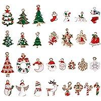 AONER 30 STK. Mini Anhänger Weihnachten Deko DIY Handwerk Bonboniere Hochzeit Geschenkbox Gastgeschenk usw.