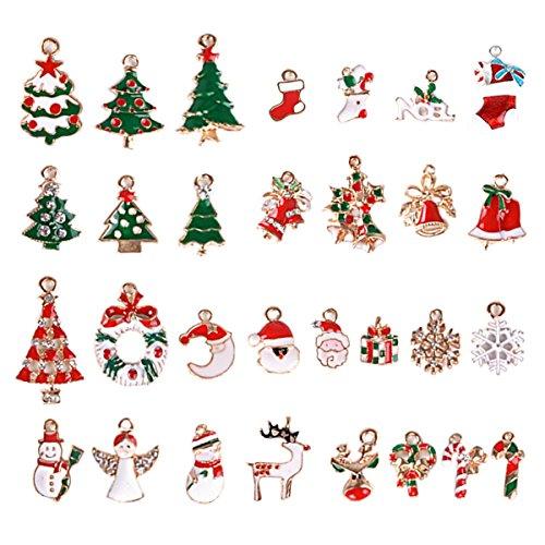 30 Stk. Mini Anhänger Weihnachten Deko für Weihnachtsgeschenke DIY Handwerk Bonboniere Hochzeit Geschenkbox Gastgeschenk usw.