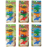 Parteet Dinosaur Shape Erasers For Kids - Pack Of 6 For Birthday Party Return Gifts