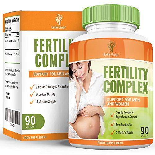 Vitaminas para Fertilidad - Suplemento Para Hombres y Mujeres - Con Zinc, Magnesio, Hierro, Calcio, Biotina, Vitamina B C D3-90 Tabletas (Suministro Para 3 Meses) de Earths Design