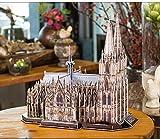 GQQ Berühmt Gebäude 3D-Puzzle Spielzeug,Papier Farbe Skalierung Modell Zuhause Dekoration,Colognecathedral
