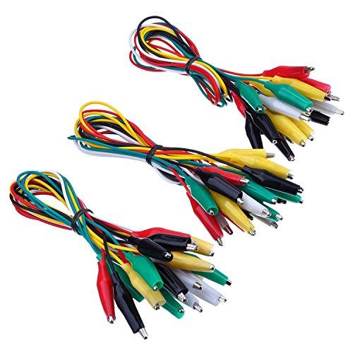 5 Lead Wire (ruikey 100Doppelendige Alligator Clip Test Lead Set JUMPER Wires Farbe Krokodil Klemmen Sonde Anschluss, 50cm (5Farben), zuf?llige Farben*30, 50 cm)