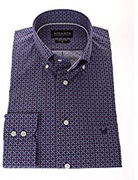 178605 - Bots & Bots - Chemise Homme - Coton - Micro Print - Button Down - Normal Fit