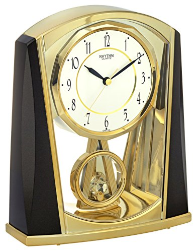 rhythm-7772-9-floor-clock-analogue-7772-metallic-grey-gold-colour