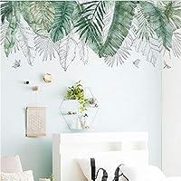BRILLINT.YY Nursery Wall Sticker Leaves Home Decor Living Room Diy Plant Leaves Birds Wall Art Wall Decorations Living Room Home Decor 120X45Cm