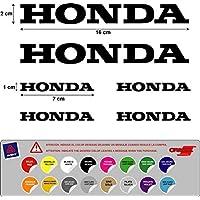 PEGATINA ADHESIVO HONDA TROQUELADO MOTO VINILO ALTA CALIDAD 5 A 7 AÑOS ( 16 colores disponibles ) KIT 6 UNIDADES