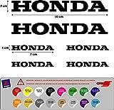 Aufkleber Aufkleber Honda-Stanzen Motorrad Vinyl hochwertig 5 A 7 AÑOS ( 16 Farben verfügbar ) Kit 6 Einheiten