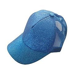 Diadia Clothing Women Sun Cap-Diadia UPF 50+ UV Ray Sun Protection Men Ponytail Baseball Cap Sequins Shiny Messy Bun Snapback Hat Sun Caps from Diadia