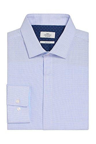 next Chemise slim avec patte de boutonnage dissimulée Coupe Slim Homme Bleu