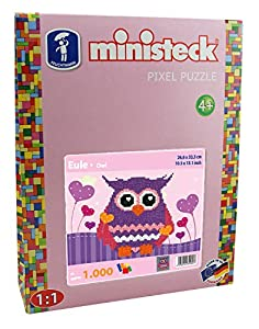 Ministeck 32.480,3 - búho púrpura, Paneles de conexión, Piedras y Accesorios