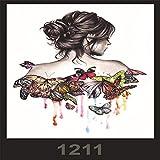 tzxdbh 3pcs-Spot Anti-Real Grande Image imperméable Fleur Bras Tatouage Autocollants beauté Tatouage Macho Ensemble 3pcs-60