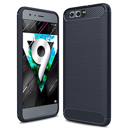 iphone 8 plus Hülle, KuGi iphone 8 plus Schutzhülle Kohlenstoff -fasern Cover Hülle Case für Apple iphone 8 plus Smartphone (Schwarz) Blau