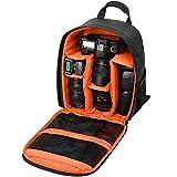BMHFF Digital SLR/DSLR Kameratasche Rucksack Kompakte Wasserdichte Kameratasche Kamera Teilern Für Männer Frauen Für Nikon D 5200 3300 Sony A 6000 5100,Orange
