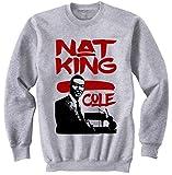 Photo de TEESQUARE1st Men's NAT King Cole Jazz Grey Sweatshirt par TEESQUARE1st