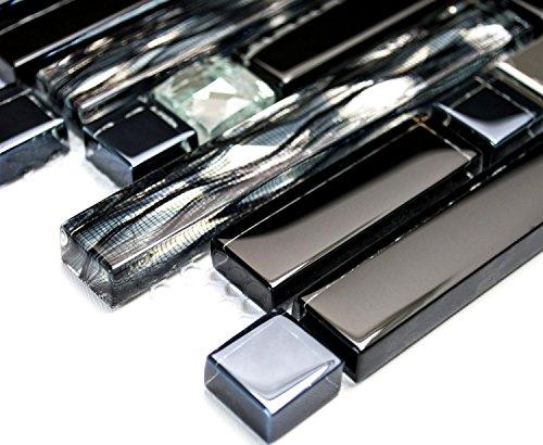 Mosaik netzwerk mix piastrelle in cristallo acciaio