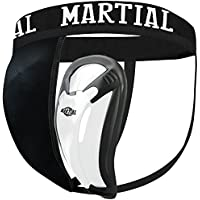 MARTIAL Tiefschutz mit 2 Cup-Größen für perfekten Sitz! Genital-Schutz mit hoher Bewegungsfreiheit ideal für Kampfsport! Leisten-Schutz mit bester Passform und elastischem Hüftband inkl. Tragebeutel!