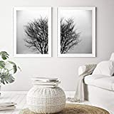 N/A zszyNordic Landscape Canvas Painting Autumn Wall Art Forest Posters and Prints Pictures for Living Room Home Decor-50x70cmx2 pcs no frame