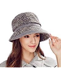 76bcee72341 Kenmont 2015 New Lady Women Winter Autumn Hat Wool Bucket Cap with Short  Brim