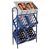Universal-Kastenständer für 3 oder 6 Kisten inkl. Wandmontagematerial Getränkeständer