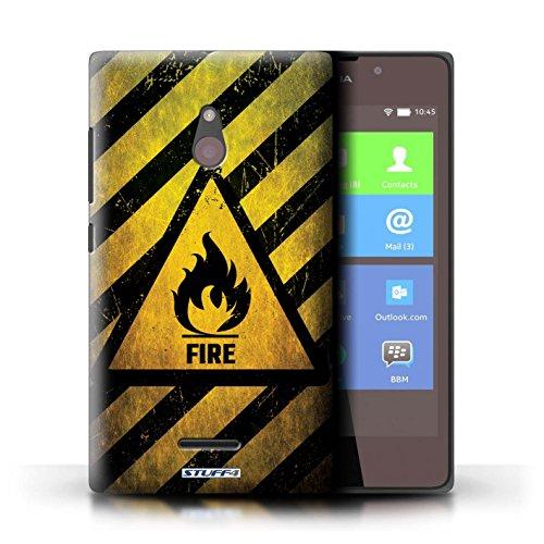 Kobalt® Imprimé Etui / Coque pour Nokia XL / électricité conception / Série Signes de Danger Feu/Inflammable