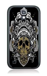 Case Schutzrahmen hülse Skull Ghost Art SK11 Abdeckung für Samsung S4 Border Gummi Silikon Tasche Schwarz @pattayamart