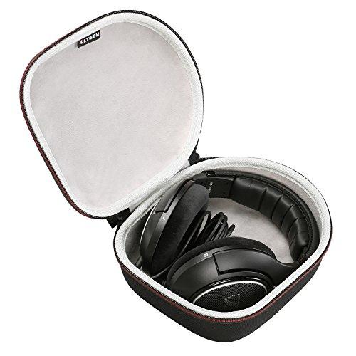 LTGEM Kopfhörer Fall Reise Tasche Tragen Aufbewahrung für Sennheiser HD 598,HD558,HD202 II,HD201,HD419,HD229,HD202,HD518,HD555 Kopfhörer- Schwarz (Tasche Dj Kopfhörer)