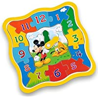 Brimarex Wooden Clock Puzzles - Mickey Mouse and Friends