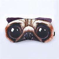 Cartoon Mops Augenmaske mit Eisbeutel Brille Baumwolle Eyeshade für Unisex schlafen (Mops) preisvergleich bei billige-tabletten.eu