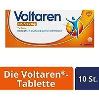 Preisvergleich für Voltaren Dolo 25 mg, überzogene Tabletten mit Diclofenac, 10 St.
