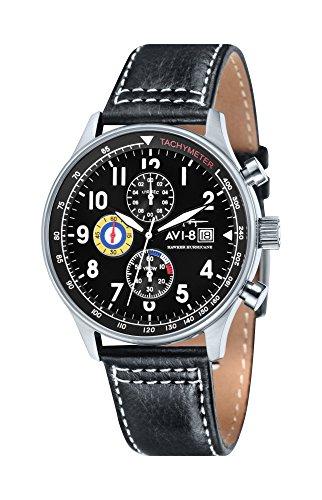 AVI-8Montre bracelet Mixte Chronographe Quartz Cuir Hawker Hurricane–4011AV–02