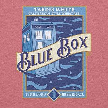 Texlab–Blue Box White Ale–sacchetto di stoffa Pink