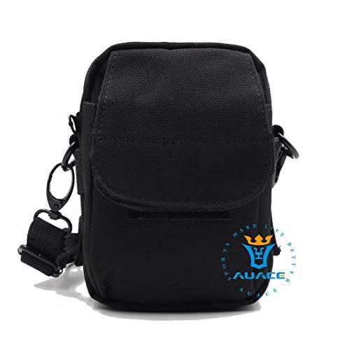 Multifunktions Survival Gear Tactical Beutel MOLLE Beutel Messenger Bag, Outdoor Camping Schultertasche Taille-Tasche Werkzeugtasche Travel Pouch BK