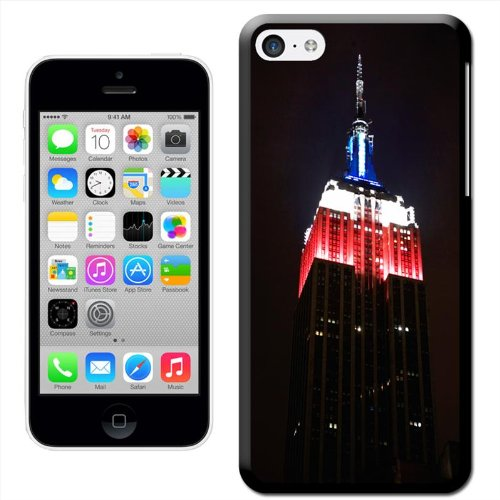Fancy A Snuggle 'Empire State New York rot weiß blau' Hard Case Clip On Back Cover für Apple iPhone 5C Empire State Red White Blue