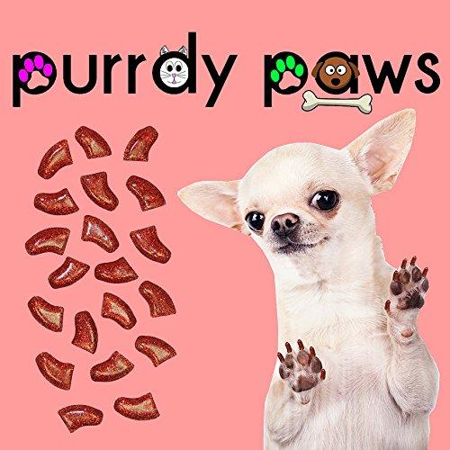 40er Soft Nail Kappen für Hunde Klauen Ruby Rot Glitzer * purrdy Pfoten Marke (Lhasa Apso Kostüme)