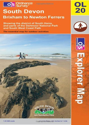 By Ordnance Survey South Devon, Brixham to Newton Ferrers OS Explorer Map OL20 (B2/)