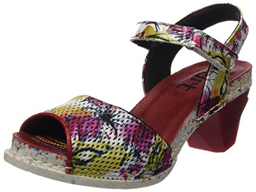 The Art Company 1120 Fantasy i Enjoy, Sandali con Cinturino alla Caviglia Donna, Multicolore (Flowers), 38 EU