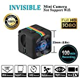 Mini Full HD 1080p Camera, COMPATH Sports HD DV SQ11 Mini Camera Spy Camcoder with Night Vision for Indoor & Outdoor (Black)