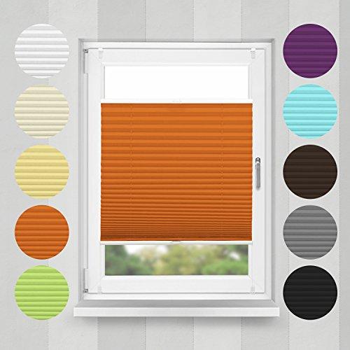 Plissee Orange HOME-VISION
