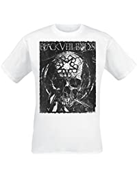 Black Veil Brides Vale - Distressed Skull T-Shirt White
