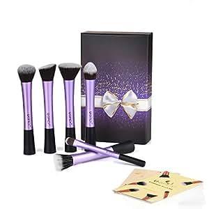 USpicy pennelli cosmetici trucco professionale a 6 pezzi con scatola di regalo (violetto)
