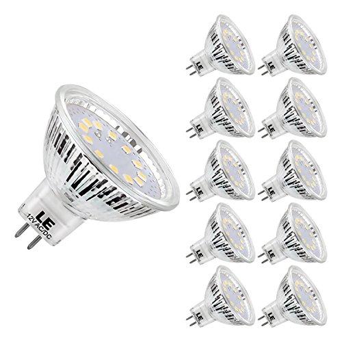LE 10er GU5.3 LED Lampen, ersetzt 35W Halogenlampen, 3.5W MR16 12V 280lm Kaltweiß 5000 Kelvin 120 ° Abstrahlwinkel LED Birnen, LED Leuchtmittel - Mr16 Lampe