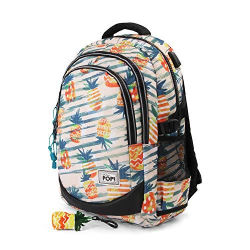 Oh My Pop Pop! Ananas-Running HS Backpack Rucksack, 44 cm, 21 liters, Gelb (Yellow) Preisvergleich