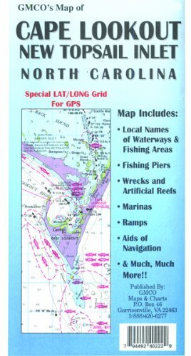 GMCO Cape Lookout Map, New Topsail Inlet, North Carolina, Folded by Big Rock Sports