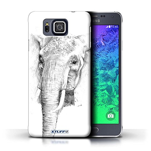 iCHOOSE Print Motif Coque de protection Case / Plastique manchon de telephone Coque pour Apple iPhone 5/5S / Collection Dessin Croquis / Cheval éléphant