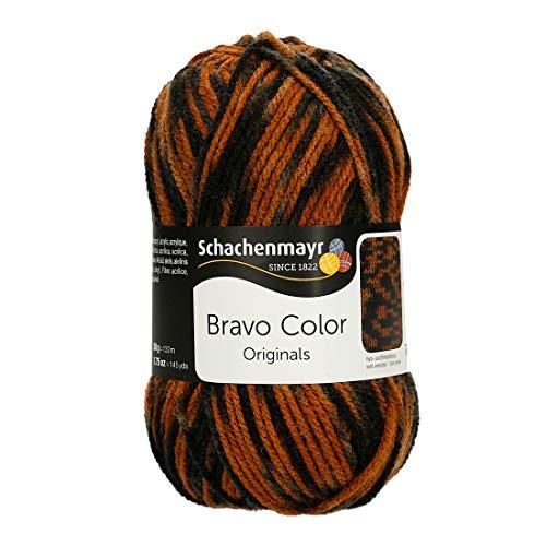 Schachenmayr Bravo Color 9801421-02337 tiger color Handstrickgarn, Häkelgarn