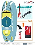 Coasto PB-CCAL99 Stand up Paddle Aufblasbar Thermo-Zwillingshaut Calypso 9'6, Schön-Wetter-Denken Grün, 297x76x12cm