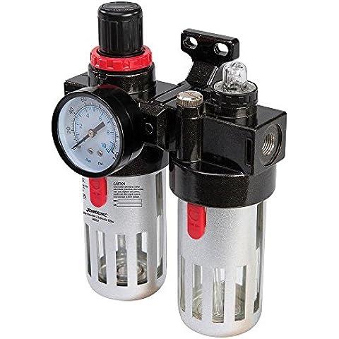 Silverline unità di controllo Filtro regolatore & Lubrificatore Aria Compressa